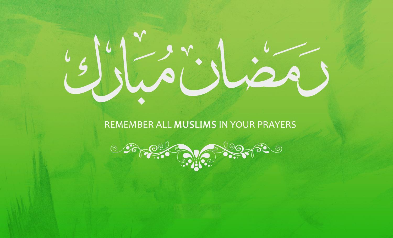 Ramadan Mubaarak to all